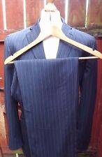 Mens Ted Baker Wool Pinstripe Three Pocket Suit 40'' X 34'' X 30.5'' Short Leg