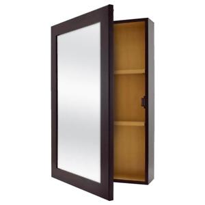 Bathroom Medicine Cabinet Framed Surface Mount Modern Fully Assembled Home Decor
