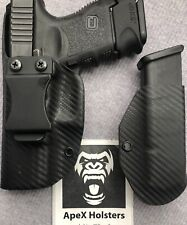 Holster, Fits Glock 19, 26, 23, 27, Left Hand, IWB APPENDIX, With Mag Holder.