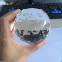 Clear Cut Crystal Sphere 70mm Faceted Gazing Ball Prisms Suncatcher Home Decor