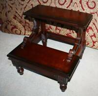 1997 BOMBAY FURNITURE Cherry Bed Library Pet Steps Stairs Exc Condition