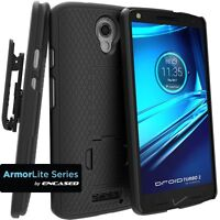 Belt Clip Holster Shell Combo Case w/Kickstand for Motorola DROID Turbo 2 XT1585