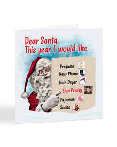 A2585 - Dear Santa Christmas List - Elvis Presley - Christmas Card