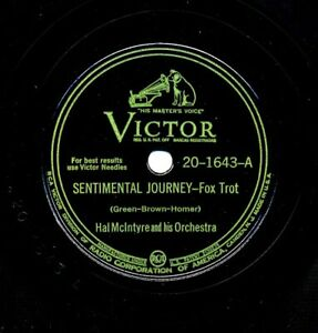 HAL McINTYRE and His Orchestra on 1945 Victor 20-1643 - Sentimental Journey