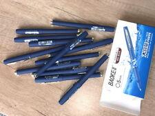 12pcs Baoke Gel ink pen 0.5mm business signature Smooth Rollerball pens Blue