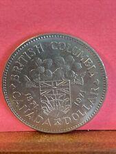 Vintage Coin. 1971 British Columbia Centennial Canada Dollar CDN PCC1