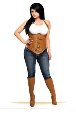 Daisy Corsets Top Drawer Steel Boned Steampunk Faux Leather Underbust sm-xl