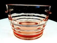 "PADEN CITY GLASS #191 PARTY LINE CHERIGLO PINK 4 1/8"" ICE TUB BUCKET 1928-"