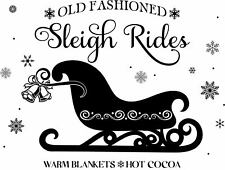 "MAGNOLIA DESIGN CO ""SLEIGH RIDE"" Adhesive Reusable Stencil--8.5"" by 11"""