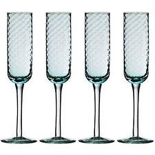 Set di 4 ARTIC BLUE BICCHIERI Flute Champagne Vino Bicchiere Bevanda SCATOLA REGALO