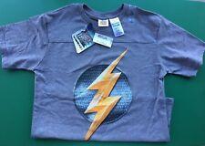 Boys Justice League Grey Short Sleeve Flash T Shirt - Sz L (10/12) - New