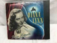Vintage 1940's Actress Diana Lynn Piano Portraits Record Capital Records 3