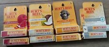 8 Burt's Bees Lip Balm Coconut Pear, Pomegranate, Beeswax,conditioning, READ