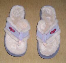 NEW RIPA HIMALAYAN Shearling Sandal Slipper Thong Flip Flop GRAY $73 M10 W12