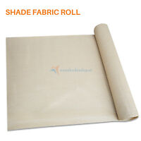 Fabric Roll Fence Privacy Sun Wind Screen UV Block DIY Shade Cloth Brown Beige