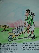 años 50 Domingo Wasaldua Villalba, Tropezones dice Domingo 27..Murcia 5 Betis 1