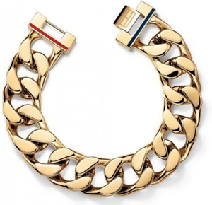 GENUINE TOMMY HILFIGER Gold Plated Chunk Chain Bracelet 2700702 FREE DELIVERY