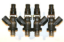 4 HONDA H22 B20 D16 D15 F22A 1300cc Fuel Injectors BLACK-OPS 124lbs MATCHED E85