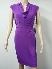 NEW FAST to AUS - Adrianna Papell Tuck Jersey Sleeveless Dress - Size 14 Purple