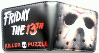 Friday the 13th Jason killer puzzle Bifold Wallet purse id window card Slot Coin