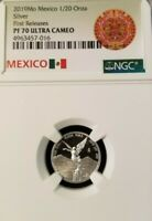 2019 MEXICO SILVER LIBERTAD 1/20 ONZA NGC PF 70 ULTRA CAMEO PERFECTION 1/20OZ !