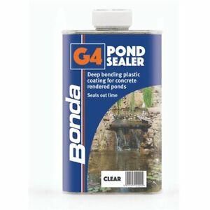 Bonda G4 Pond Sealer - clear deep-bonding coating for concrete-rendered ponds