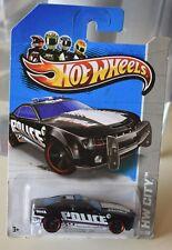 2013 Hot Wheels HW City '10 CAMARO SS POLICE BLACK TREASURE HUNT NEW