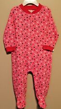 """GIRLS 0/3 months pink footed sleeper """"hearts""""  (bodysuit / 1-piece outfit) NWOT"""