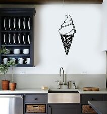 Wall Sticker Ice Cream Food Sweet Waffle Cone Kitchen Vinyl Decal Gift (g015)