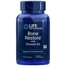 Life Extension Bone Restore with Vitamin K2 (120 ct) Super Absorbable Nutrients
