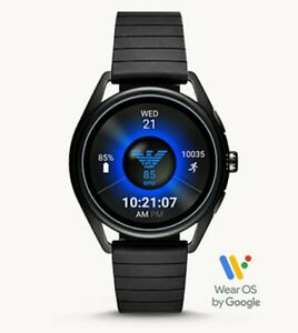 EMPORIO ARMANI Black Rubber Smartwatch ART5017 MSRP $345 NEW SEALED GIFT