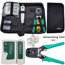 Ethernet Network RJ45 Cat5e Cat6 Cable Tester / Crimping Tool / 10x Connectors