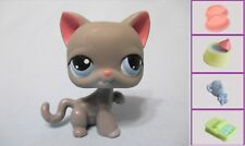LITTLEST PET SHOP GREY CAT #74 PAW UP KITTY+1 FREE ACCESS  LPS Authentic