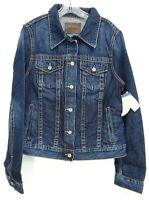 New Big Star Womens 100% Cotton Blue Eco Denim Trucker Jean Jacket XS - L