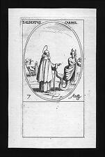 santino incisione 1600 S.ALBERTO DI TRAPANI  j. callot
