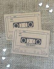 25 Brown kraft A7 Wedding cassette tape Song/DJ request cards