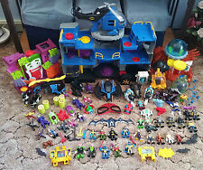 Fisher Price Imaginext Batman Batcave House Vehicles Deep Sea Station HUGE LOT