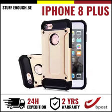 Gold Plated Armor Cover Cas Coque Etui Silicone Hoesje Case Or For iPhone 8 Plus
