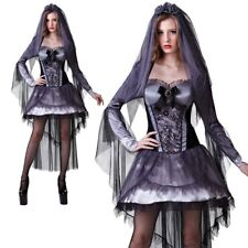 Adults Dark Corpse Bride Ladies Halloween Costume Horror Fancy Dress Outfit New