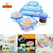 6x Universal Durable Silicone Stretch Lids Cover for Cups Bowls Plates Container