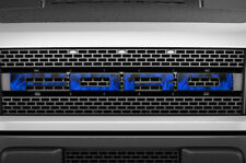F150 SVT Raptor Ford Grill Insert Graphics Stickers Decals 2010-2014 BLUE FLAME