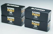 (4) ILFORD PAN F ISO 50 Film Rolls, 120 Medium Format, Black & White, Expired