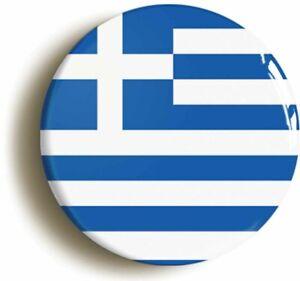 GREECE GREEK NATIONAL FLAG BADGE BUTTON PIN