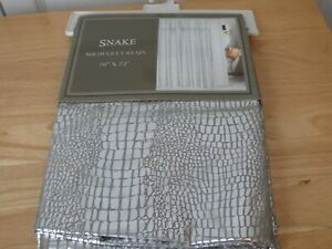 Snake Shower Curtain - Silver - New on Original Hanger - 100% Polyester