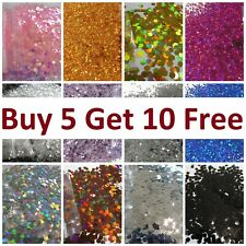 Glitter Chunky Cosmetic Craft 1mm,3mm,5mm Body Hair Nail Art...BUY 5 GET 10 FREE