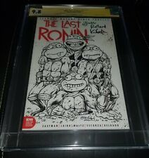 The Last Ronin #1 TMNT Justin Roiland sketch Variant CGC SS 9.8 Double Signed