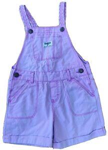 Osh Kosh 3 years girl shorty dungarees pink classic braided kids toddler summer