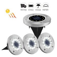EE_ Outdoor Waterproof 12 LEDs Solar Floor Light Lamp Garden Yard Lawn Decor Mys
