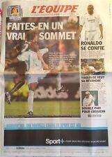 L'Equipe Journal 26/10/2002; PSg-OM/ Ronaldo se confie/ Grosjean en 1/2 finale