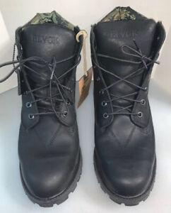 "Timberland x Black Scale Men 13 M 6"" Premium Boot Black Leather NIB New 6001B"